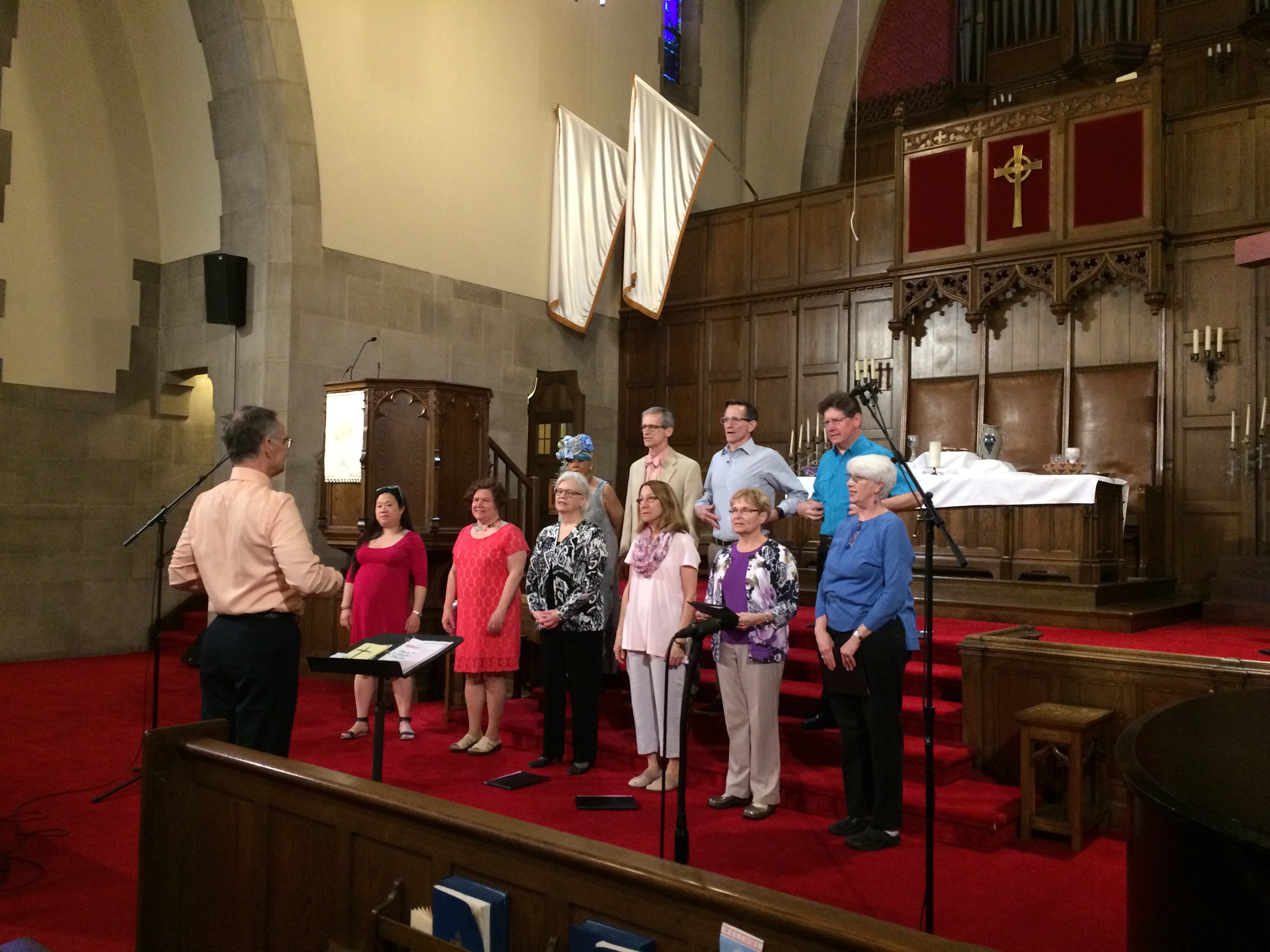 Choir warming up for Easter