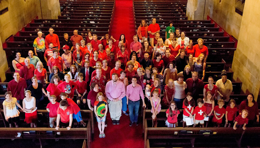 congregation in annual Pentecost picture