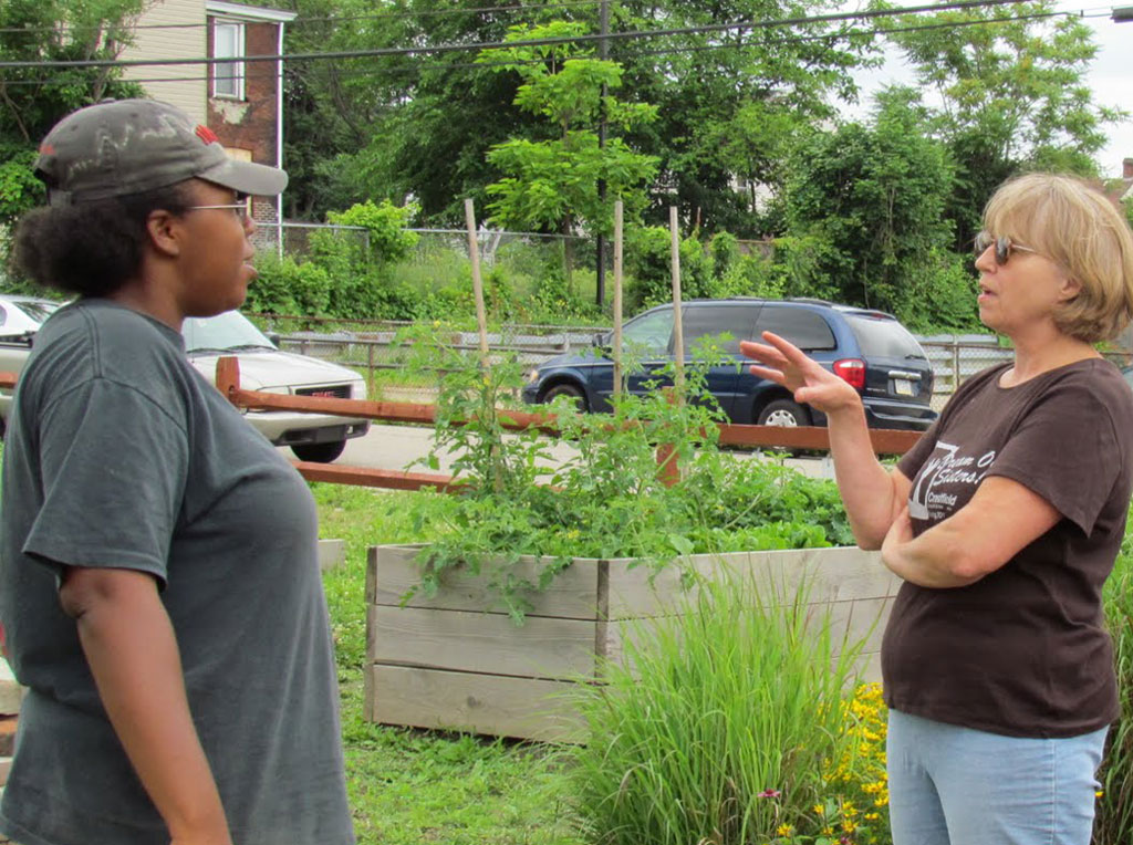 Rev Beckie on the Abundant Hope garden mission in Larimer